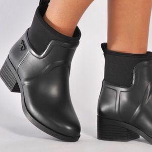 9fe06e40f06b Tory Burch Shoes - Tory Burch Black April Rain Bootie Rubber Neoprene